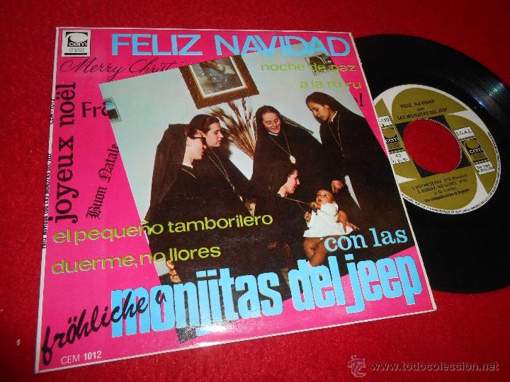 MONJITAS DEL JEEP FELIZ NAVIDAD.PEQUEÑO TAMBORILERO/A LA RU RU/NOCHE DE PAZ +1 EP 1967 CEM EXCELENTE (Música - Discos de Vinilo - EPs - Grupos Españoles 50 y 60)