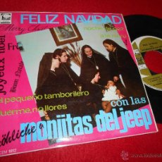 Discos de vinilo: MONJITAS DEL JEEP FELIZ NAVIDAD.PEQUEÑO TAMBORILERO/A LA RU RU/NOCHE DE PAZ +1 EP 1967 CEM EXCELENTE. Lote 255942680