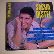 Discos de vinilo: EP SACHA DISTEL - CHANTE (C'EST PAS VRAI / LA FAMILLE MUSICIENNE + 2 ) BELTER-1963. Lote 54631964