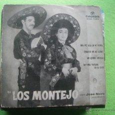 Discos de vinilo: LOS MONTEJO - CORAZON NO ME LLORES - UNA VEZ ALLA EN MI TIERRA - EP AÑOS 50. Lote 54639027
