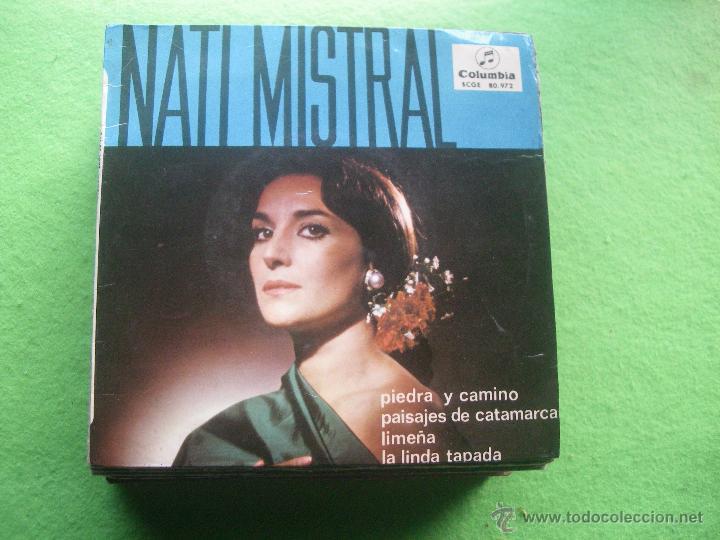 NATI MISTRAL-PIEDRA Y CAMINO + 3 EP VINILO RARO EDITADO POR COLUMBIA EN 1965 (Música - Discos de Vinilo - EPs - Flamenco, Canción española y Cuplé)