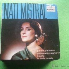 Discos de vinilo: NATI MISTRAL-PIEDRA Y CAMINO + 3 EP VINILO RARO EDITADO POR COLUMBIA EN 1965. Lote 54639167