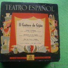 Discos de vinilo: TEATRO ESPAÑOL EL GAITERO DE GIJON MICROSURCO ODEON EP PEPETO. Lote 54639299