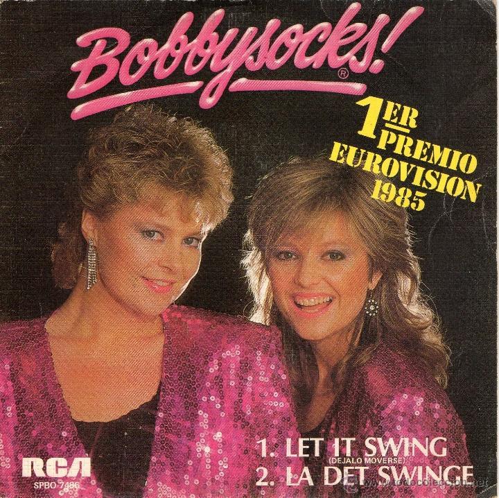 BOBBYSOCKES - LET IT SWING - SINGLE - COMO NUEVO. (Música - Discos - Singles Vinilo - Festival de Eurovisión)