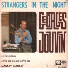 Discos de vinilo: GEORGES JOUVIN / STRANGERS IN THE NIGHT / MONDAY MONDAY / LE DESERTEUR ...EP , RF-008. Lote 54643980