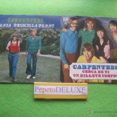 Discos de vinilo: CARPENTERS(2 SINGLE ) CERCA DE TI / CANTA ..SG SPAIN 1970 PDELUXE. Lote 54649726