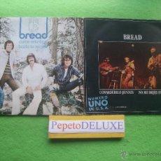 Discos de vinilo: BREAD (2 SINGLES) CONSEGUIRLO JUNTOS / DULCE ENTREGA SG SPAIN 1970 PDELUXE. Lote 54649822