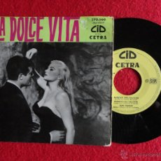 Discos de vinilo: DUO FASANO+WILLIAM GALASSINI ET SON ORCHESTRA - LA DOLCE VITA – EP ORIGINAL FRANCE 1960 – CETRA/CID. Lote 54653205
