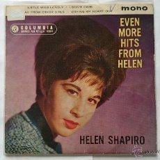Discos de vinilo: HELEN SHAPIRO - LITTLE MISS LONELY / I DON'T CARE + 2 (EP EDIC. SUDAFRICANA 1962). Lote 54660044