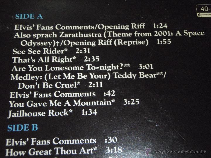 Discos de vinilo: ELVIS PRESLEY ( ELVIS IN CONCERT ) RECORDED ON TOUR JUNE,1977 DOBLE LP33 USA-1977 RCA - Foto 2 - 784793