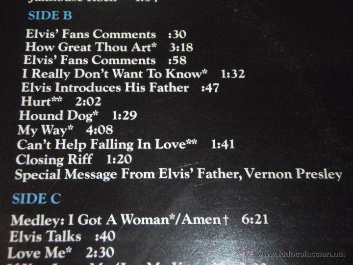 Discos de vinilo: ELVIS PRESLEY ( ELVIS IN CONCERT ) RECORDED ON TOUR JUNE,1977 DOBLE LP33 USA-1977 RCA - Foto 3 - 784793