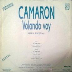 Discos de vinilo: CAMARÓN. VOLANDO VOY (REMIX ESPECIAL). RUMBA VENENO. PHILIPS. ESP. 1990 (MAXI LP 12' PROMOCIONAL) . Lote 54663374