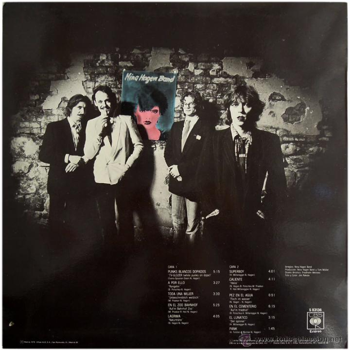 Discos de vinilo: Nina Hagen Band – 1er Lp - Lp Spain 1979 - CBS S 83136 - Foto 2 - 54664611