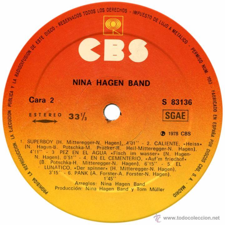 Discos de vinilo: Nina Hagen Band – 1er Lp - Lp Spain 1979 - CBS S 83136 - Foto 4 - 54664611