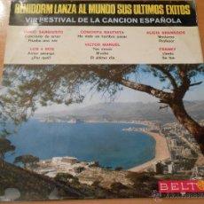 Disques de vinyle: FESTIVAL DE BENIDORM 1966- VARIOS CANTANTES , LP, LOS 4 ROS - AMOR AMARGO + 11 , AÑO 1966. Lote 54666033