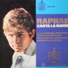 Discos de vinilo: RAPHAEL CANTA LA NAVIDAD-LA CANCION DEL TAMBORILERO,CAMPANAS DE PLATA...EP HISPAVOX DE 1965,RF-52. Lote 54666556
