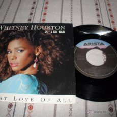 Discos de vinilo: WHITNEY HOUSTON - GREATEST LOVE OF ALL. Lote 54666908