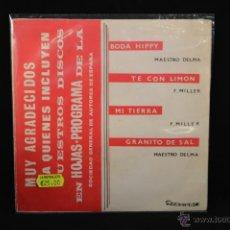 Discos de vinilo: JOSE RUBIO Y SU CONJUNTO - BODA HIPPY +3 - EP. Lote 54675366