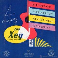 Discos de vinilo: XEY,LOS, EP, A B CEDARIO + 3 , AÑO 1959. Lote 54676916