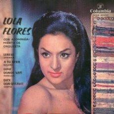 Discos de vinilo: LOLA FLORES - LERELE - EP - CASI NUEVO. Lote 54682249