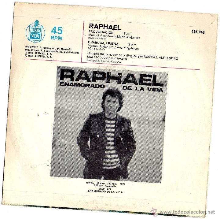 Discos de vinilo: RAPHAEL - PROVOCACION - SINGLE - Foto 2 - 54682327