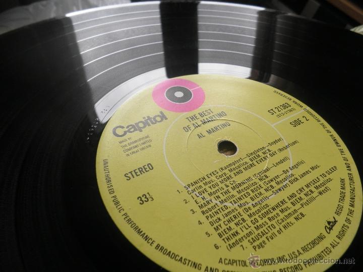 Discos de vinilo: AL MARTINO - THE BEST OF AL MARTINO LP - ORIGINAL INGLES - CAPITOL RECORDS 1970 - - Foto 14 - 54693562
