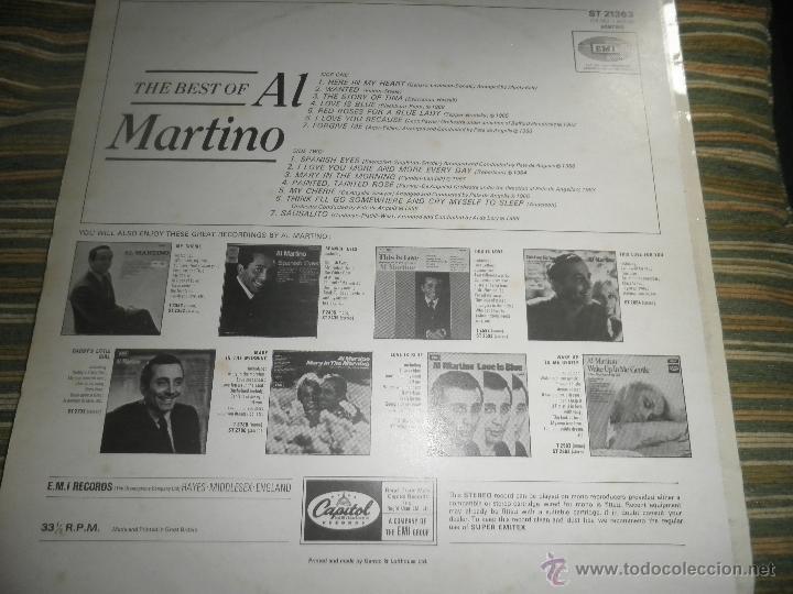 Discos de vinilo: AL MARTINO - THE BEST OF AL MARTINO LP - ORIGINAL INGLES - CAPITOL RECORDS 1970 - - Foto 15 - 54693562