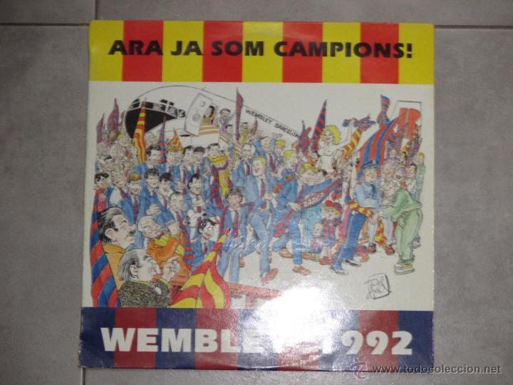 ARA JA SOM CAMPIONS - QUIQUE TEJADA - WEMBLEY 1992 - BARÇA - MAXI - 2 TEMAS - BLANCO Y NEGRO - IBL - (Música - Discos de Vinilo - Maxi Singles - Grupos Españoles de los 90 a la actualidad)