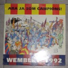 Discos de vinilo: ARA JA SOM CAMPIONS - QUIQUE TEJADA - WEMBLEY 1992 - BARÇA - MAXI - 2 TEMAS - BLANCO Y NEGRO - IBL -. Lote 54701243