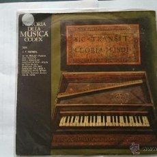 Discos de vinilo: HAENDEL - HISTORIA DE LA MUSICA CODEX XXVI (SOLO CUBIERTA) (1965). Lote 54702287
