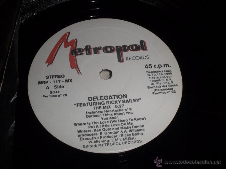 Discos de vinilo: DELEGATION FEATURING RICKY BAILEY - Foto 2 - 54704946