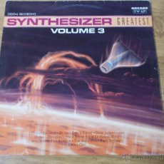 Discos de vinilo: SYNTHESIZER GREATEST VOLUME 3 MAXI 12 . Lote 54710783