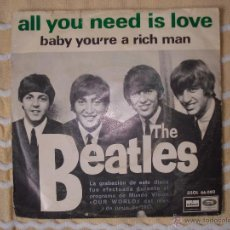 Discos de vinilo: BEATLES - ALL YOU NEED IS LOVE. Lote 98473299