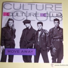 Discos de vinilo: SINGLE CULTURE CLUB (MOVE AWAY) VIRGIN-1986 - EXCELENTE ESTADO. Lote 54717528