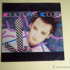 Discos de vinilo: SINGLE CULTURE CLUB (GOD THANK YOU WOMAN) VIRGIN-1986 - EN MUY BUEN ESTADO. Lote 54717644