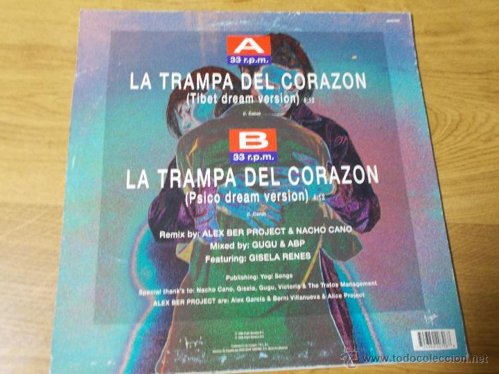 Discos de vinilo: NACHO CANO. LA TRAMPA DEL CORAZON - Foto 3 - 54719698