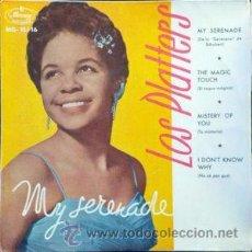 Discos de vinilo: LOS PLATTERS - MY SERENADE (MERCURY, MG-10.116 7'', EP 1959). Lote 54720748