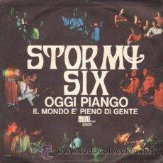 Discos de vinilo: STORMY SIX - OGGI PIANGO+1 (MINI REC, 2001 7'', SINGLE, 1967) PROGRESIVO FOLK ROCK ITALIANO. Lote 54721553