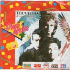 """Discos de vinilo: MECANO (DISCO PÓSTER) - SINGLE 7"""" - LOS AMANTES + HÉROES DE LA ANTÁRTIDA - EDITADO EN COLOMBIA 1989. Lote 54724038"""