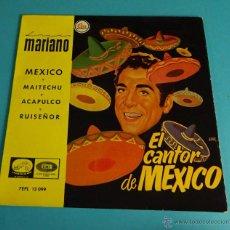 Discos de vinilo: LUIS MARIANO. EL CANTOR DE MÉXICO. Lote 54725811