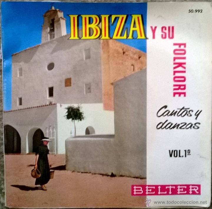 ESCUADRA DE SONADORS. IBIZA Y SU FOLKLORE. CANTOPS Y DANZAS. BELTER 1962 EP DOBLE CUBIERTA + ENCARTE (Música - Discos de Vinilo - EPs - Étnicas y Músicas del Mundo)