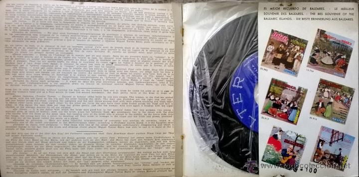 Discos de vinilo: Escuadra de Sonadors. Ibiza y su folklore. Cantops y danzas. Belter 1962 ep doble cubierta + encarte - Foto 4 - 54726145