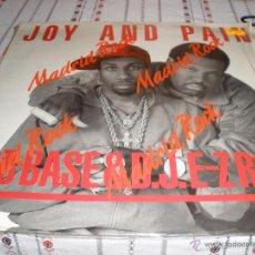 Disques de vinyle: ROB BASE & DJ E-Z ROCK - JOY AND PAIN. Lote 54726328
