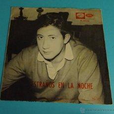 Discos de vinilo: LUIS AGUILÉ. EXTRAÑOS EN LA NOCHE. LA BANDA BORRACHA. Lote 54726848