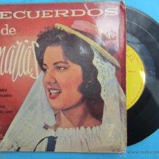 Discos de vinilo: RECUERDOS DE CANARIAS , LUIS ARAQUEY SU PIANO CON LOS HUARACHEROS 1960 ZAFIRO. Lote 54731680