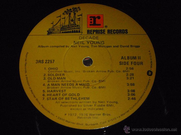 Discos de vinilo: NEIL YOUNG ( DECADE ) USA 1976 LP33 TRIPLE REPRISE RECORDS - Foto 12 - 1129198