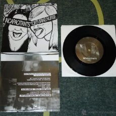 Discos de vinilo: INCAPACITANTS / TORTURING NURSE - FATHER EGGPLANT / BOMB FIXERS - 7''. Lote 54738692