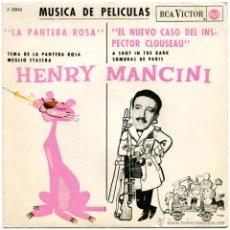 Discos de vinilo: HENRY MANCINI – MÚSICA DE PELÍCULAS: (LA PANTERA ROSA) - EP SPAIN 1964 - RCA VICTOR 3-20843 - MAC. Lote 54741302