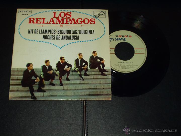 RELAMPAGOS EP NOCHE DE RELAMPAGOS+3 (Música - Discos de Vinilo - EPs - Grupos Españoles 50 y 60)