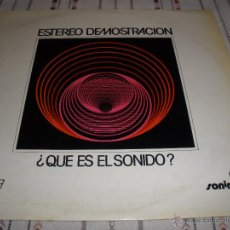 Discos de vinilo: ESTEREO DEMOSTRACION SONIMAC 18 - JORDI DONCOS . Lote 54755352